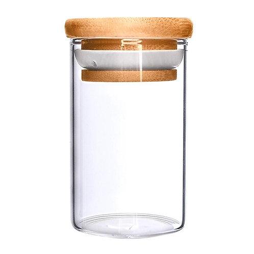 Wooden Lid Glass Jar 10oz - 80 Count