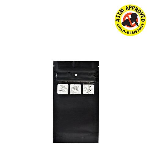 DymaPak Child Resistant Black Mylar Bag 1/4 Ounce - 1000 Count