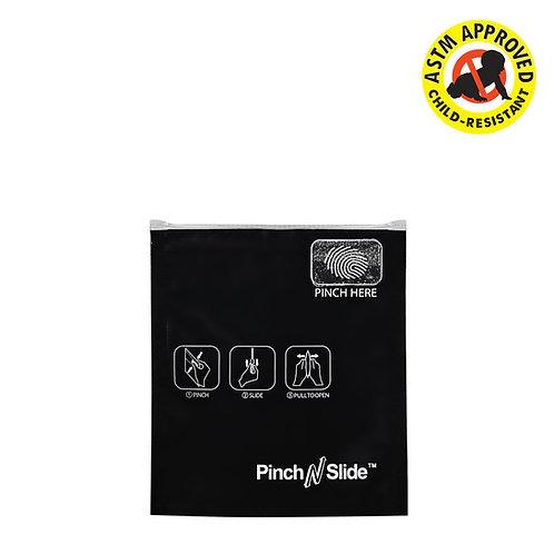 """Pinch N Slide Child Resistant Mylar Bag Black 3.4"""" x 3.7"""" 250 Count"""