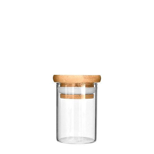 Wooden Lid Glass Jar 1oz - 200 Count