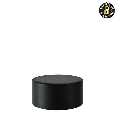 Child Resistant Plastic Caps for Dab Jars - Black - 9ml - 320 Count