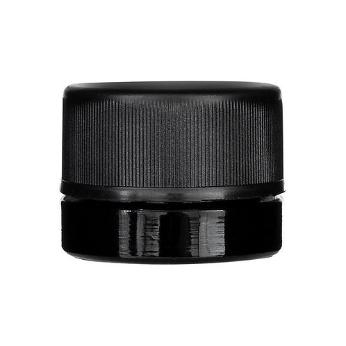 Child Resistant Black Glass Concentrate Container - 5ML - 504 count
