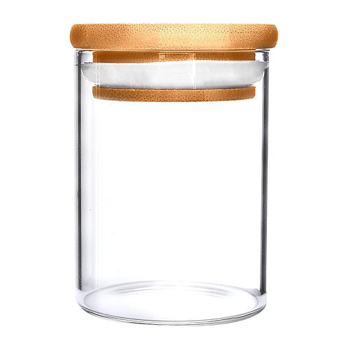 Glass Jar With Wooden Lid 18oz - 40 Count