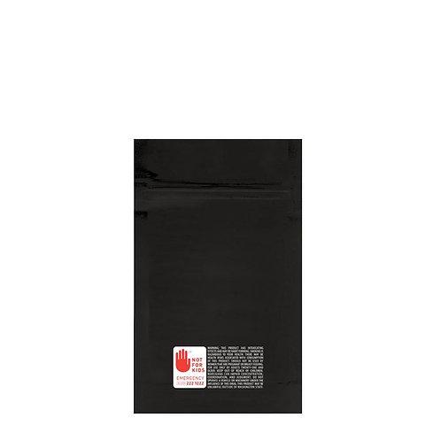 Mylar Bag WA Vista Black 1/4 Ounce - 1,000 Count