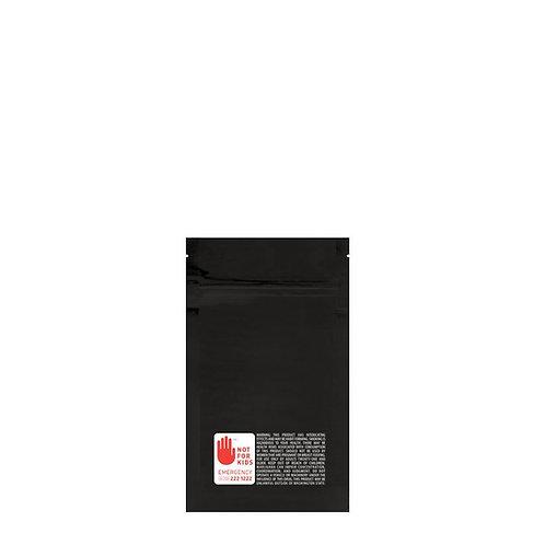 Mylar Bag WA Vista Black 1/8 Ounce - 1,000 Count