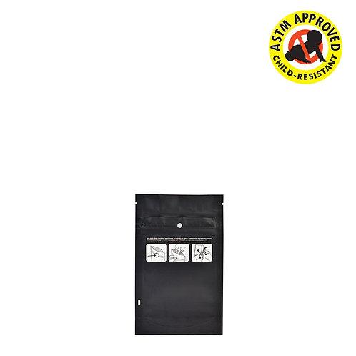 DymaPak Child Resistant Black Mylar Bag 1 Gram - 1000 Cout