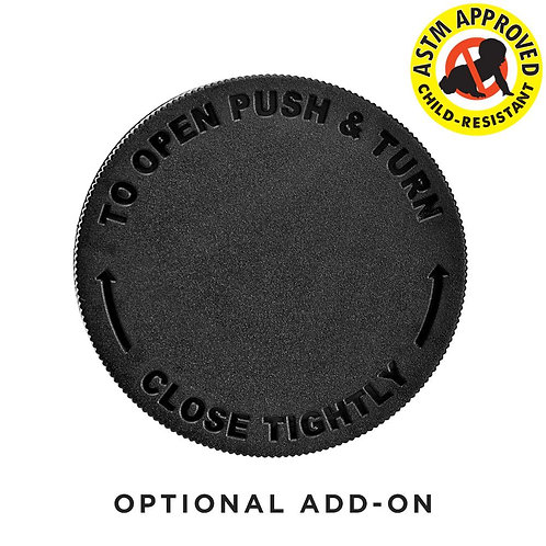 2oz / 4oz Add-On Smooth Child Resistant Cap 53mm CAPS ONLY - 120 Count