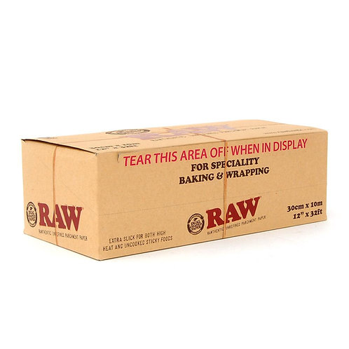 """Raw Parchment Paper 12"""" in x 32' ft (6 Pack)"""