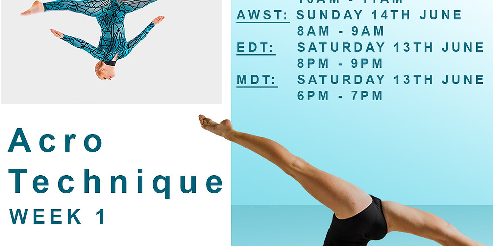 SUNDAY SERIES WITH MEAGHAN WEGG - ACRO TECHNIQUE WEEK 1