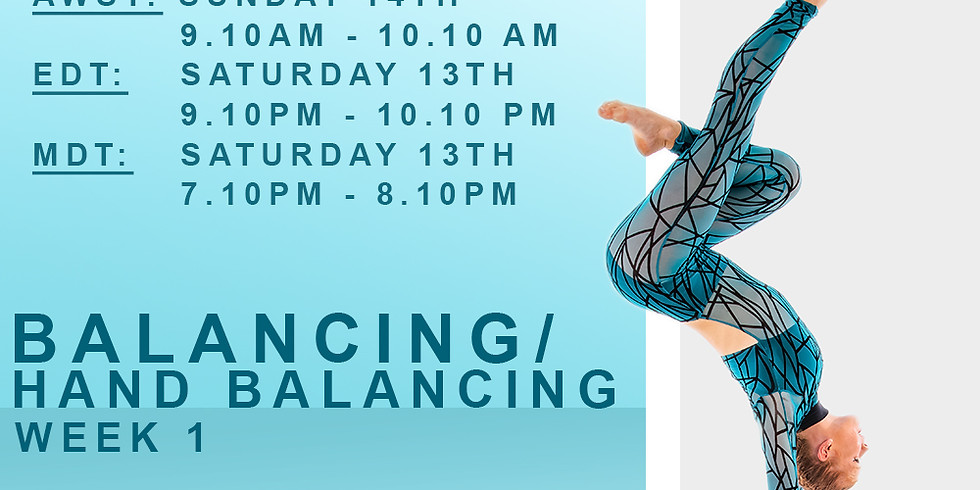 SUNDAY SERIES WITH MEAGHAN WEGG - BALANCING/HAND BALANCING