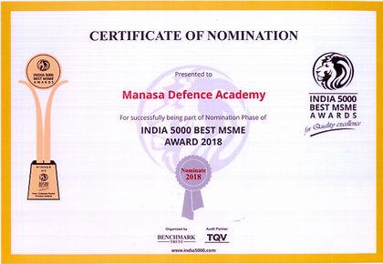 best defence academy award