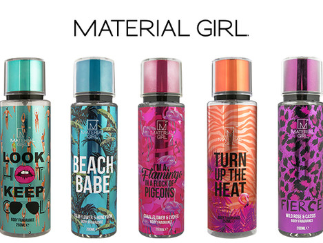 MADONNA'S MATERIAL GIRL BRAND LAUNCHES BODY MIST RANGE