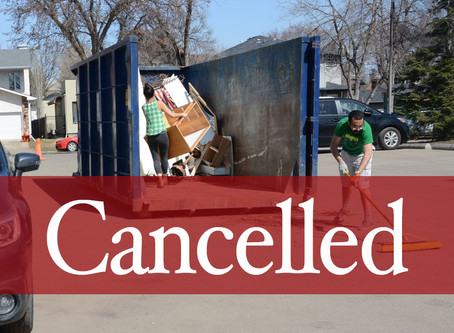 Big Bin event cancelled