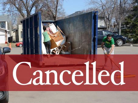 Big Bin event cancelled
