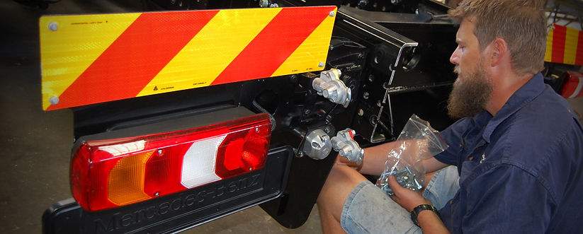 Fitting towbar to a new truck