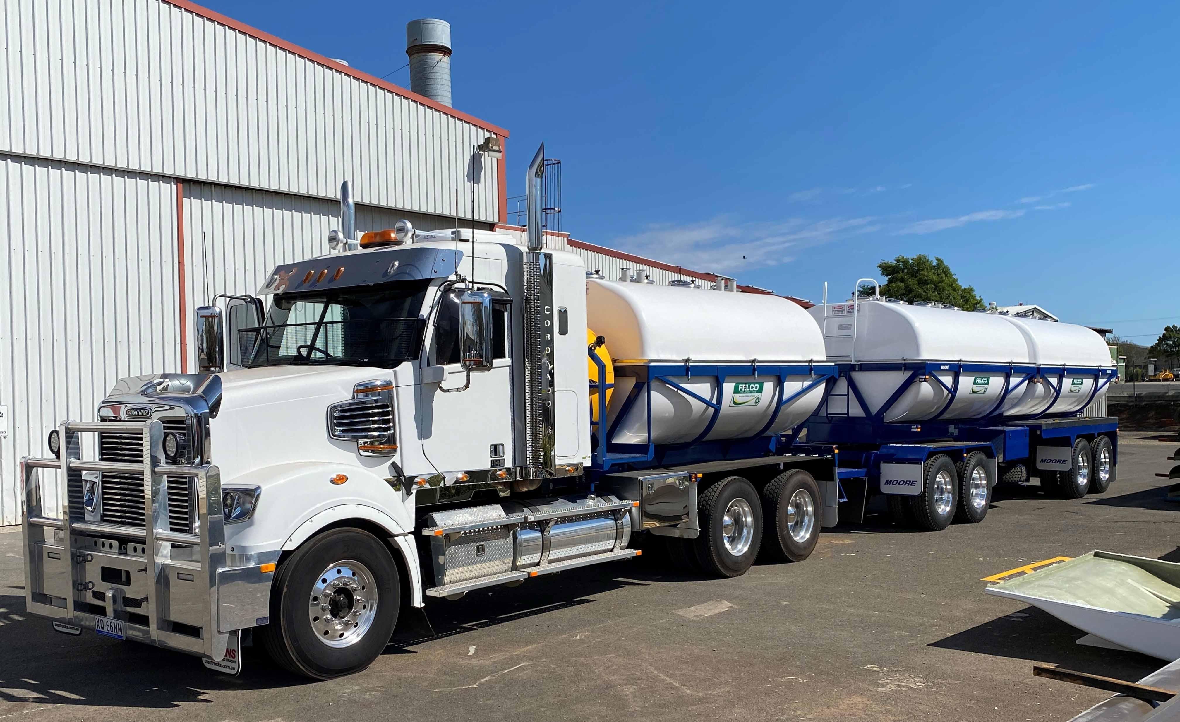 Truck and Super Dog On Farm Molasses Tan