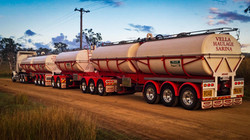 A/B. Triple Combination Delivering Molasses to Central Queensland