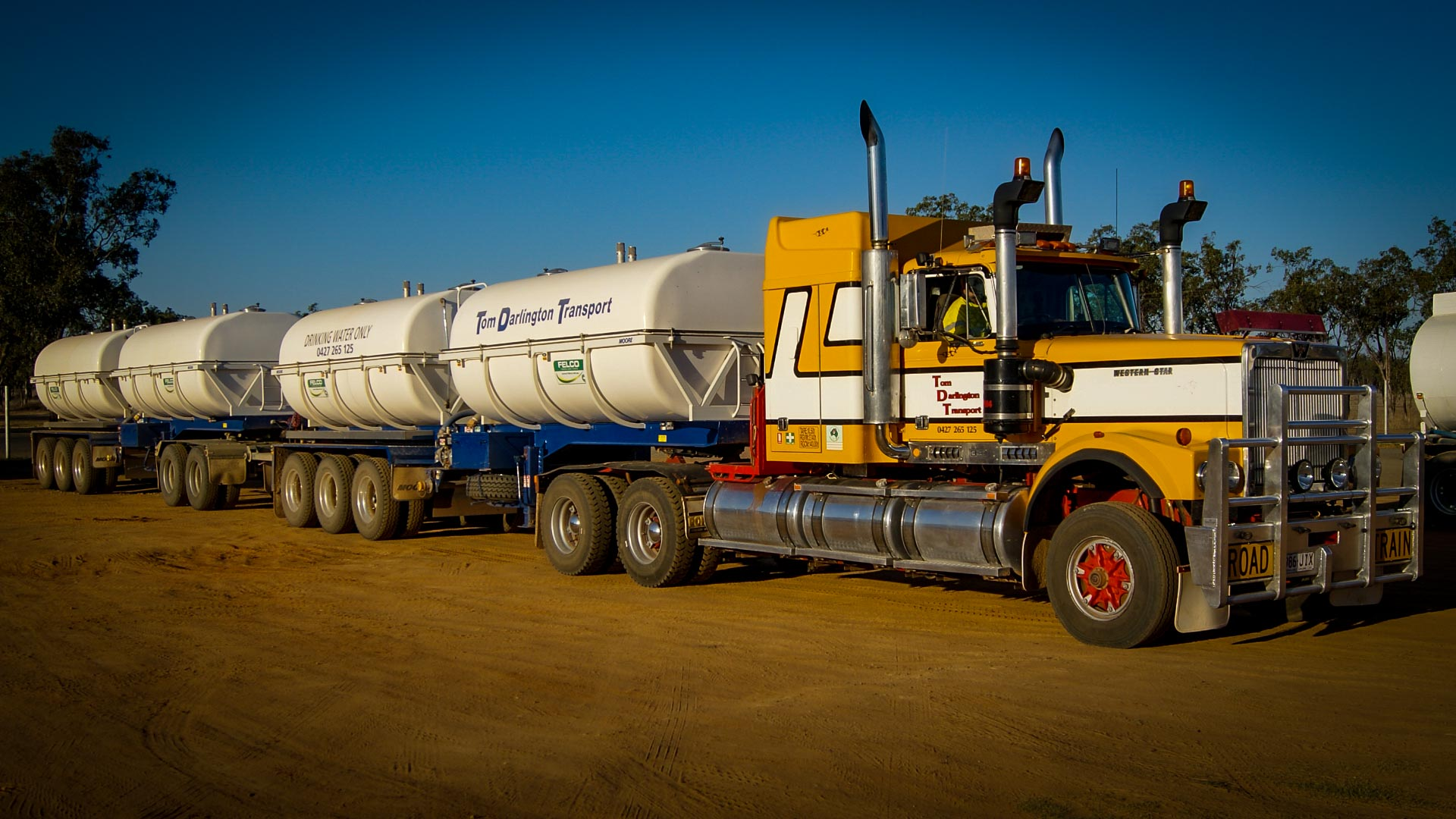 Bulk Potable Water Tanker for Remote Camp and Town Re-Supply