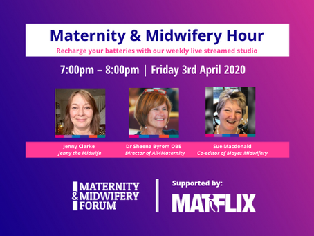 MATFLIX supports the Maternity & Midwifery Hour - Friday @7pm, Facebook