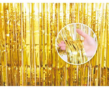 Kurtyna dekoracyjna B&C złota, 90x240 cm