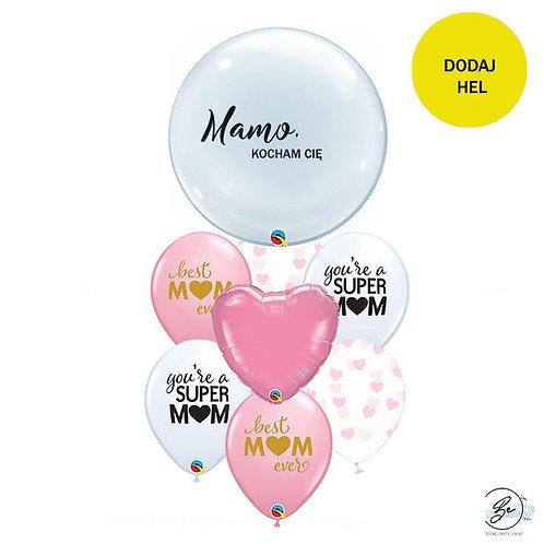 Bukiet balonowy Mamo, kocham Cię 8 szt