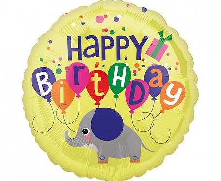 Balon foliowy 18 cali Urodzinowy Słoń