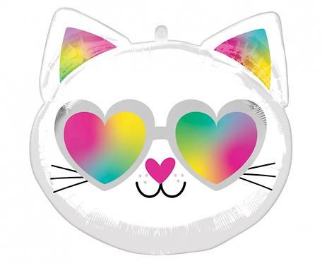 Balon foliowy - Zakochany kotek