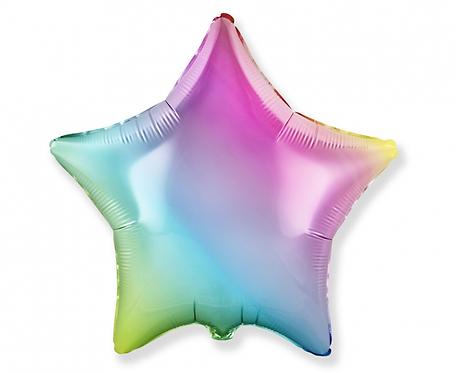 Balon foliowy - Gwiazda gradient pastelowy