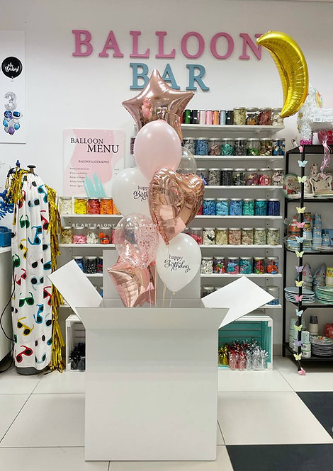Poczta balonowa - Bukiet urodzinowy Rose Gold