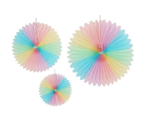 Rozeta dekoracyjna PB&C, multikolor, 3 szt. ( 20, 30, 40 cm)