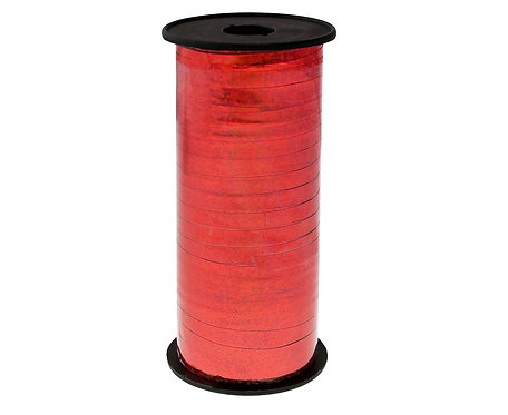 Tasiemka holograficzna czerwona, 100y (92 m)