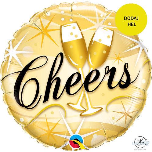 "Balon foliowy 18"" QL CIR ""Cheers Starbursts """
