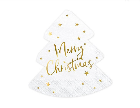 Serwetki Choinka - Merry Christmas, 16x16,5cm
