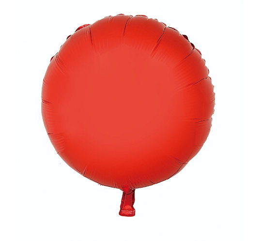 """Balon foliowy """"Okrągły"""", czerwony, 18"""""""