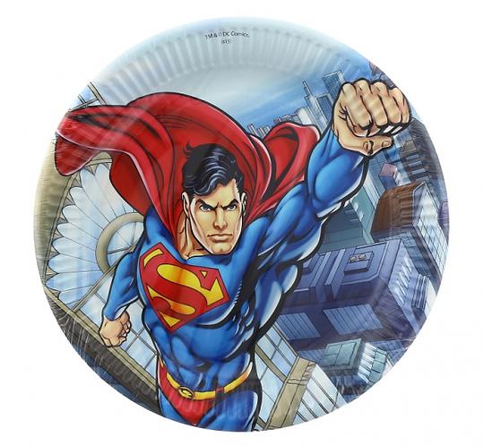 """Talerzyki papierowe """"Superman Comics"""" 23 cm, 8 szt."""
