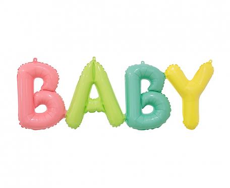 Balon foliowy napis BABY, 85x29 cm