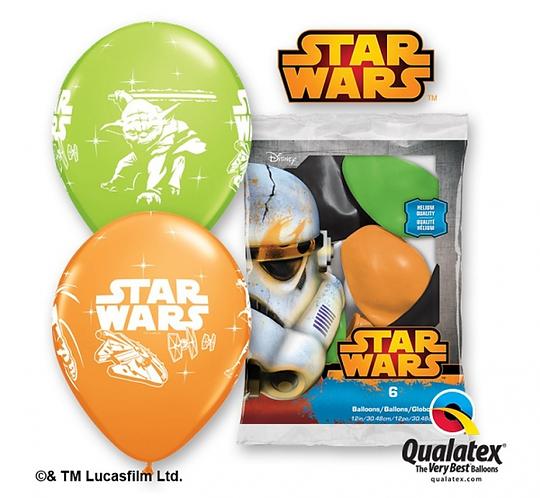 "Balon QL 12"" z nadr. ""Darth Vader & Yoda"" /STAR WARS"