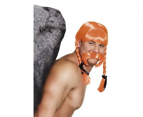Peruka Gaul Fidelix, z wąsami
