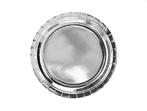 Talerzyki okrągłe, srebrny, 23cm