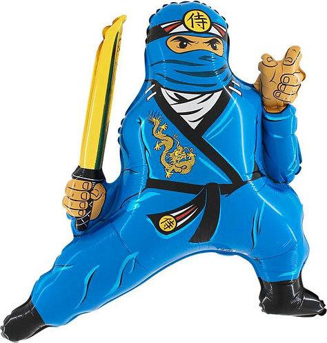 "Balon Grabo 21"" Ninja Niebieski"