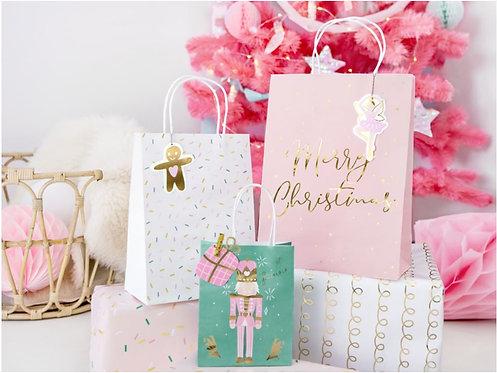 Świąteczne torebki na prezenty, mix