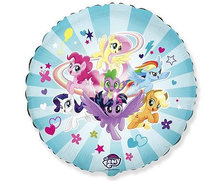 Balon foliowy 18 cali FX - My little Pony Drużyna