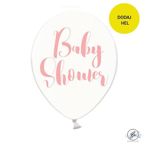 Balony Baby Shower, różowe