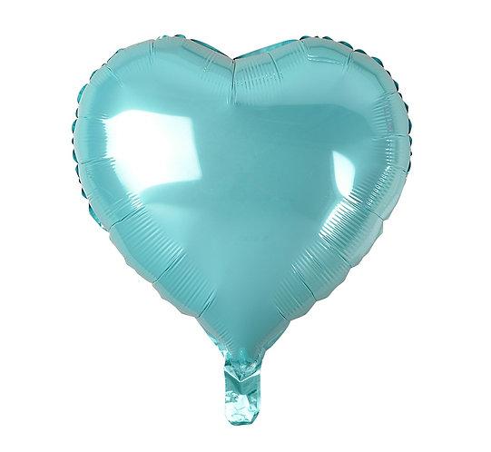 """Balon foliowy """"Serce"""", jasnoniebieskie, 18"""""""
