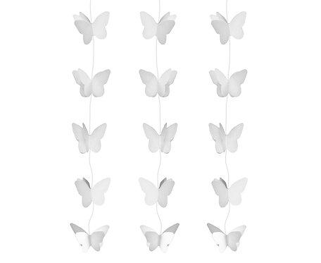 Dekoracja wisząca Motylki Białe