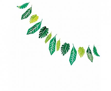 Girlanda papierowa Safari Leaves, 213 cm