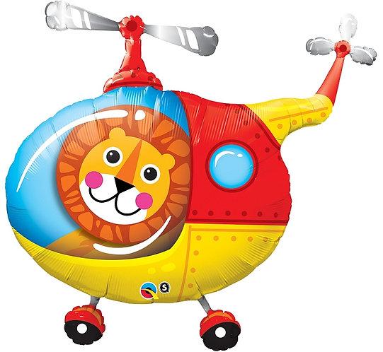 "Balon foliowy 35"" QL SHP ""Lew Pilot Helikoptera"""