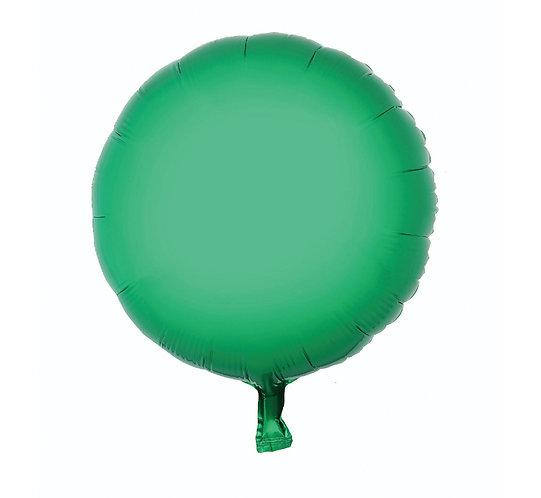 """Balon foliowy """"Okrągły"""", zielony, 18"""""""