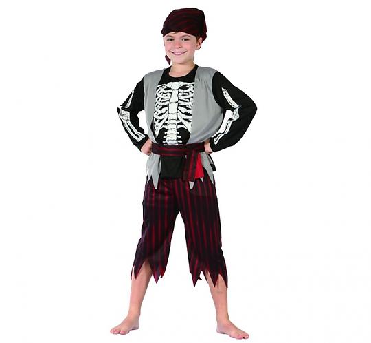 Strój dla dzieci Pirat Szkieletor, rozm. 130/140 cm