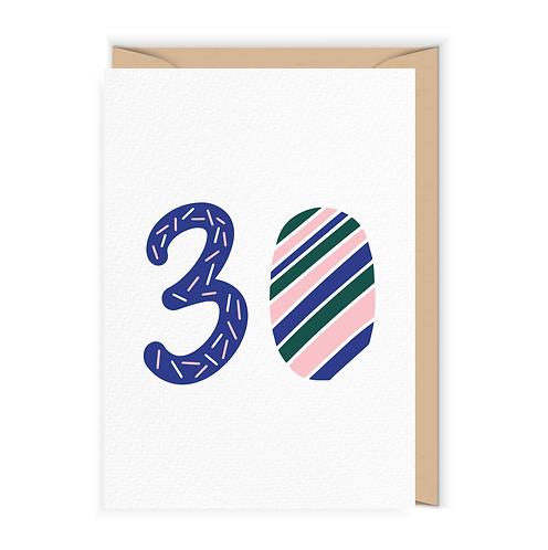 Kartka na 30-te urodziny